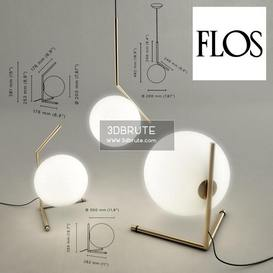 IC Light by Flos Floor lamp 176 3dmodel  3dsmax vray