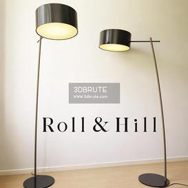 roll and hill Floor lamp 177 3dmodel  3dsmax vray