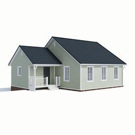 Dom house 90m2 3dmodel 3dsmax