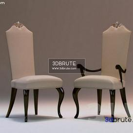 arm dinning Christopher Guy Chair 6 3dmodel 3dbrute