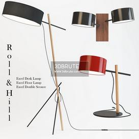 Excel Double Sconce Floor lamp 192 3dmodel  3dsmax vray