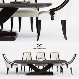 corona Christopher Guy Table + Chair 79 3dmodel 3dbrute