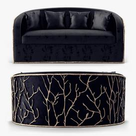 Koket Christopher Guy Sofa 95 3dmodel 3dbrute