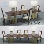 SET soho dolche savannah Christopher Guy Table + Chair 103