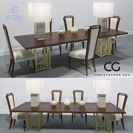 SET soho dolche savannah Christopher Guy Table + Chair 103 3dmodel 3dbrute