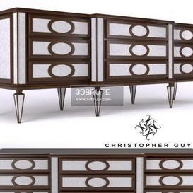 Cabinets Montmartre Christopher Guy Sideboard 108 3dmodel 3dbrute