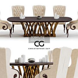 CG Rain Forest   corona Christopher Guy Table + Chair 119 3dmodel 3dbrute