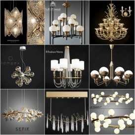 Ceiling light vol1 set 2018 3d model