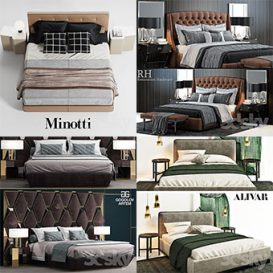 Sell Bed vol1 2018 set 3dmodel 3d brute
