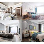 Sell Modern bedroom set 2019 3dsmax
