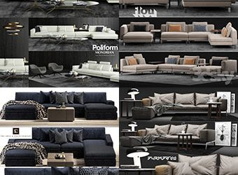 Sell super sofa vol1 2018 set 3dmodel 3dbrute