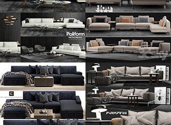 Sell super sofa vol1 2018 set 3dmodel 3dbrute