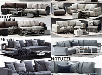 Sell super sofa vol2 2018 set 3dmodel 3dbrute