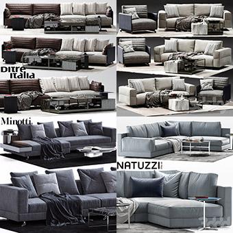 Sell super sofa vol2 2018 set 3dmodel 3dbrute