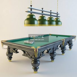 Billiard table download 3dmodel free 3dbrute 13