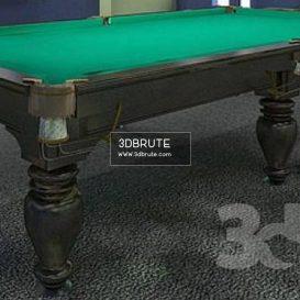 Billiard table download 3dmodel free 3dbrute 3