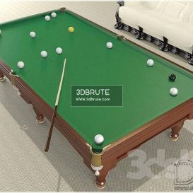 Billiard table download 3dmodel free 3dbrute 4
