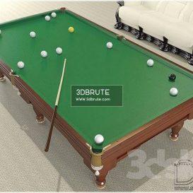 Billiard table download 3dmodel free 3dbrute 4