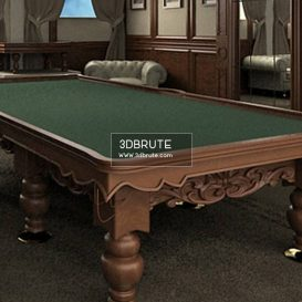 Billiard table download 3dmodel free 3dbrute 7