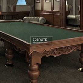 Billiard table download 3dmodel free 3dbrute 7