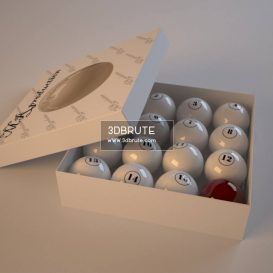 Billiard balls download 3dmodel free 3dbrute 11