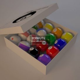 Billiard balls download 3dmodel free 3dbrute 12