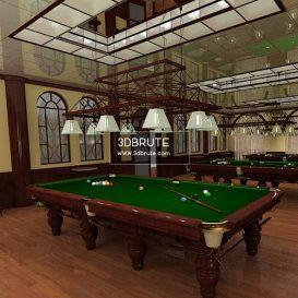 Billiard table download 3dmodel free 3dbrute 1