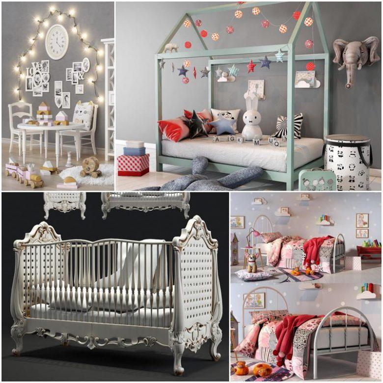 Childroom set 2018 3d model