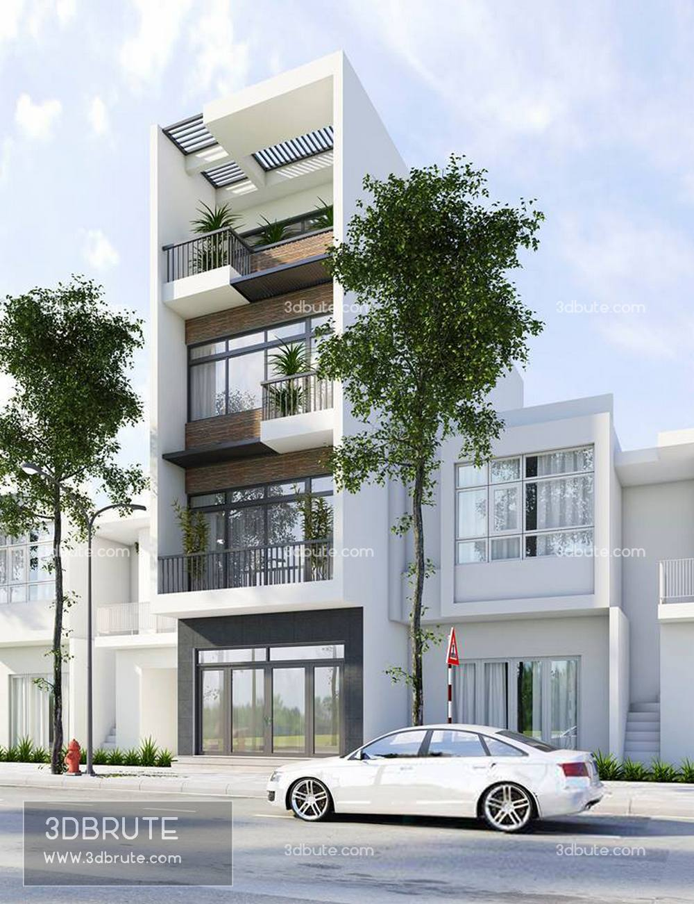 Exterior download free 3dmodel vray 3dbrute