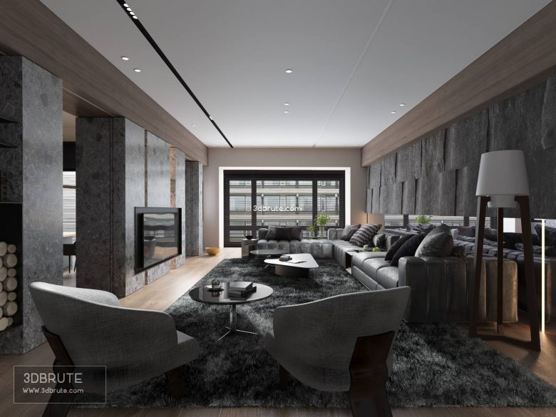Living room download free 3dsmax