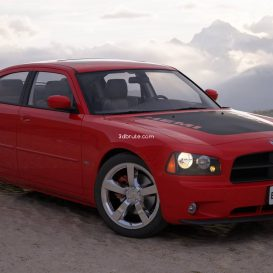 Car  Dodge Charger 6 3dsmax 3dmodel download free