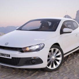 Car  Volkswagen Scirocco 8 3dsmax 3dmodel download free