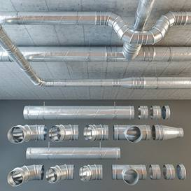 Duct 3dmodel  download free  5