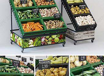 Sell Supermarket-3dmodel 3dsmax 3dbrute