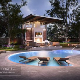 Cabana outdoor resort 3dmodel 3dsmax download free