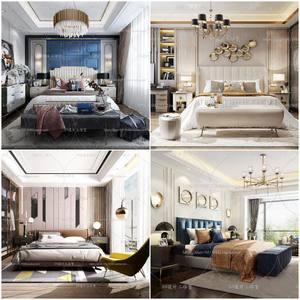 Sell Bedroom Mix Style 2019 3dmodel Full Scene Of Bed Room