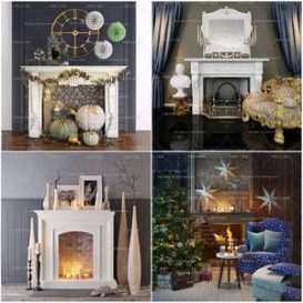 Sell Fireplace set 3dmodel