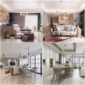 Sell Living room Scandinavian 2019 3dmodel