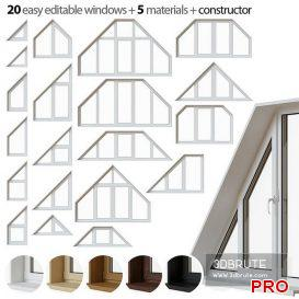 Set of trapezoidal windows