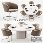 Carmen chairs and Opera table – Visionnaire Home Philosophy