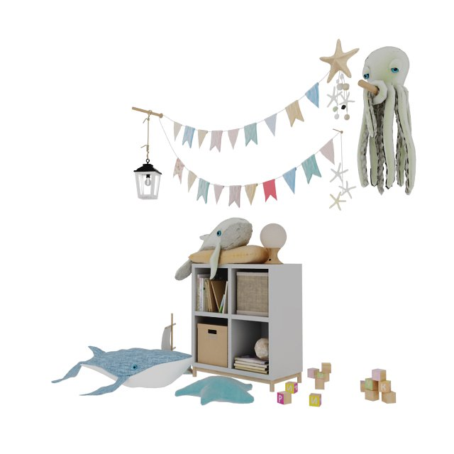 Toys and furniture Childroom - Download -3d Models Free -3dbrute