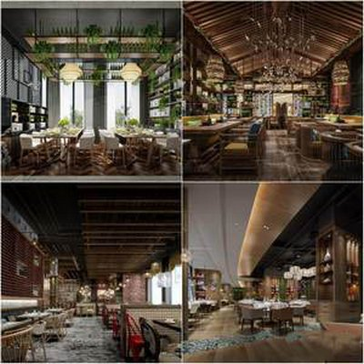 Sell restaurant 3dmodel 2019 download  3dbrute