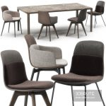 Molteni Barbican chairs set