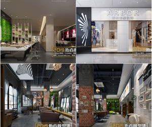 Sell  hair salon 3dmodel 2019 download  3dbrute