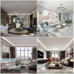 LivingRoom Modern style vol 2 3d66 2019 (Sell pro collection)