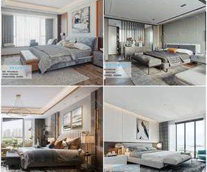 Bedroom Modern style  3d66 2019 download  3dbrute 3d66 2019