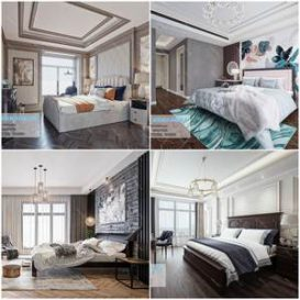 Bedroom Classic style  3d66 2019 download  3dbrute 3d66 2019