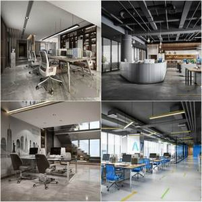 Sell  office space 3dmodel 2019 download  3dbrute