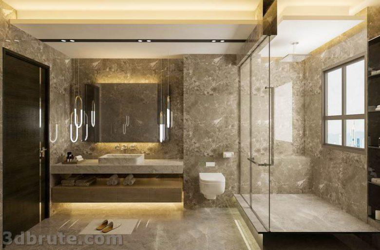 Master Bathroom 3d model