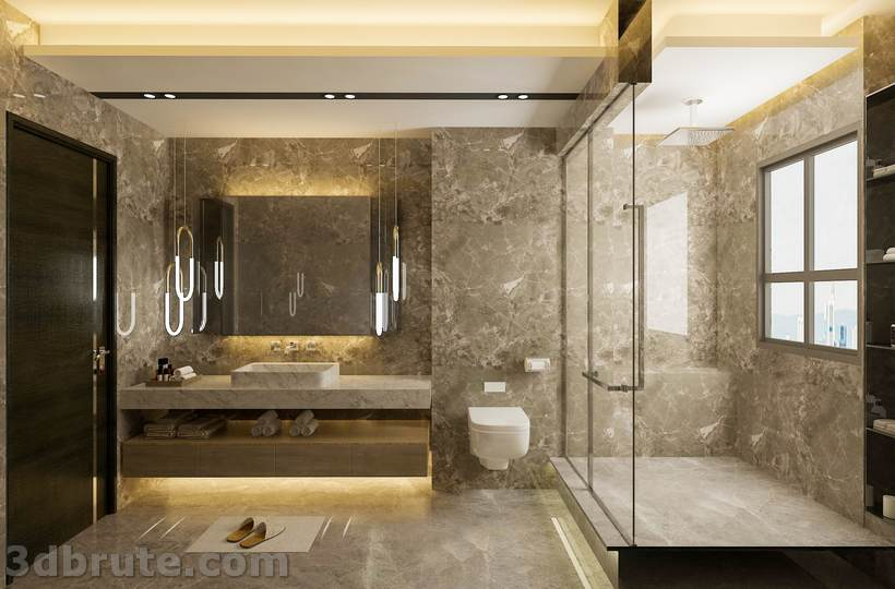 Modern Bathroom Download 3d Models Free 3dbrute